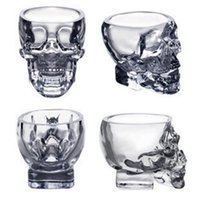 copa de vidro copa venda por atacado-Caveira de Cristal cabeça Wine Vodka Copo Beber Caneca de vidro Cup 80ML esqueleto do pirata Vácuo Beer OOA2318