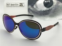 Wholesale light power designer for sale - Germany designer brand sunglasses IC model power law ultra light without screw memory alloy removable metal round frame coated lenses