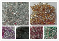 Wholesale Wholesale Acrylic Gems Flat Back - Wholesale-3g 2.0mm Flat Back Beads Nail Rhinestones Acrylic Nail Art Decoration for UV Gel Phone DIY Nail Glitters Gems Tools