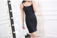 Wholesale Summer Female Slim Hip Skirt - Summer tight bag hip skirt sexy sleeveless vest female backing sling long slim size dress shirt ouc227