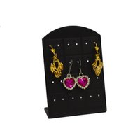Wholesale 24 Pair Earring Holder - Fashion Free Shipping 10Pcs lot 12 Pair 24 Holes Jewelry Holder Organizer Earrings Display Stand Acrylic Earrings Card