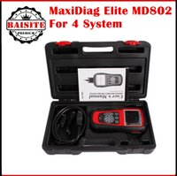 Wholesale Engine Abs Scan Tool - Free DHL original Autel MD802 MaxiDiag Elite Scan Tool autel 802 4 system engine transmission ABS & Airbag 4 System Diagnostic Tool