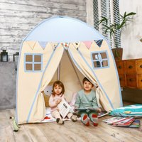 Love Tree Kid Play House Algodão Canvas Indoor Children Sleeping Tent Large House - Blue House toy tent