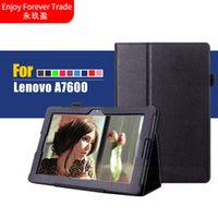 Wholesale Lenovo Tablet Smart Covers - Wholesale- Cover For Lenovo A7600 10.1'' Stand Litchi PU leather case cover capa para For Lenovo tab a10-70 a7600 Smart Tablet PC + Film