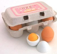 Wholesale Wooden Egg Simulation Children s Toy Duck and Chicken Egg Pack