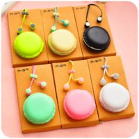 2016 New Macarons Candy Cor in-ear fones para Samsung Xiaomi Cute Girls para MP3 Player MP4 Mobile Phone Birthday Gift