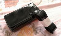taillenbeutelmuster großhandel-Klassische Muster schwarz PU Mantel Farbe Tasche 20 cm Frauen Taille Tasche mit berühmten Logo Kosmetik Make-up Aufbewahrungskoffer VIP Geschenktüte