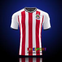2017 New Chivas de Guadalajara soccer jerseys camisetas de futbol Chivas Home  Away 17 18 110 Year commemorate E.LOPEZ A.PULIDO Shirts ... ac7b0a3428a46