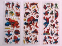 Magnetic spiderman comics books - spiderman stickers toy for boys Comic Book super Heros classic toys D cartoon kids stickers party props sheets