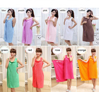 Wholesale Body Wrap Towels Wholesale - Magic Bath Towels Lady Girls SPA Shower Towel Body Wrap Bath Robe Bathrobe Wearable Magic Towel 9 colors wa4238