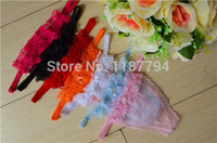 Wholesale T String Underwear Cheapest - G-String 100pcs G String Thong Cheapest Hot Women Sexy Lace Panties T Back Underwear Rainbow Super Elastic CHD100