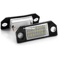 Wholesale pair license plate - 2pcs pair Car License Plate Light LED Number Lamp 6W 12V 24 LED White Light for Ford Focus 2 C-Max