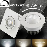 All'ingrosso-20pcs mini dimmerabile risparmio energetico COB soffitto COB ha condotto il downlight 3W 5W 110 / 220V Warm /