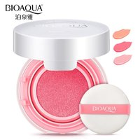 Wholesale Naked Blusher - BIOAQUA Brand Air Cushion Blush Bronzer Makeup Mineralize Blusher Cheek Sleek Cosmetics Soft Powder Naked Make Up Nude Maquiagem In Stock
