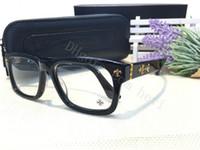 Wholesale H Frame - NEW fashion eyeglass chrom-H glasses prescription men eye frame brand designer prescription glasses vintage frame steampunk style HOW COOL