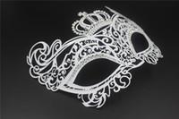 Wholesale Rhinestone Cat Mask - Sexy Metal Party Mask Cat Woman Venetian Laser Cut Rhinestone Party Dancing Ball Mask Halloween Performance XMAS Princess Mask 4005