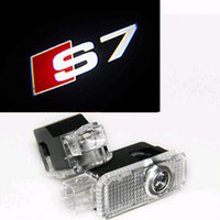 2pcs Led Auto Logo / Emblem Laser Lamp LED Car Door Étape Ghost Shadow Welcome Projecteur Light Lamp pour Audi S7