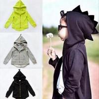 Wholesale Coat Warm Outwears Kids - baby boy clothes Girls Outwear Christmas Kids Clothing 2017 Winter Fashion Long Sleeve Warm Cartoon Rabbit Ear Coat children clothing 2052