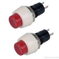 Wholesale Round Push Button Switches - 2x Red Mini 2 pin Round Toggle Self-locking Power ON OFF Push Button Switch B00100 JUST