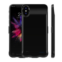 Wholesale iphone charger case for sale - 5000Mah Mah Power Bank Charger Case Cover Mobile Phone Backup Battery for iPhone Plus Plus iPhone X with Package