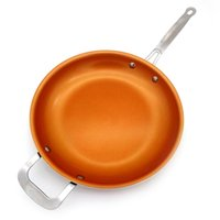 Wholesale Aluminum Oven - Newly Arrived Non-stick Copper Frying Pan with Ceramic Coating and Induction cooking,Oven & Dishwasher safe 12 Inches