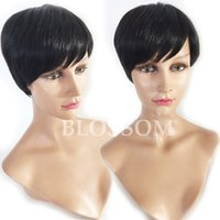 Wholesale 6inch human hair for sale - Group buy Virgin Best Hair None Full Lace Brazilian Human Short Hair Wigs inch Glueless Lace Front Brazilian Human Straight Hair Wigs