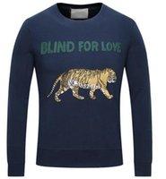 Wholesale Promote Sports - Promoted Brand Tiger Sweatshirt Blind For Love Fashion Mens Hoodies Jumper Sweatshirts Cotton Men Jacket Coat Pullover Sports Tracksuit