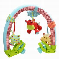 Wholesale Baby Toy Doll Stroller - Wholesale- Baby Toys On The Bed Animal Cartoon Doll In The Crib Newborn Developing For Stroller Baby Rattles For 0-12 Months - DBYC151 PT49