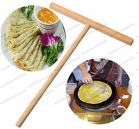 Wholesale Used Wood Tools - Crepe Maker Pancake Batter Wooden Spreader Stick Home Kitchen Tool Kit DIY Use free shipping MYY