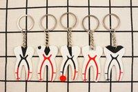 diş parçaları toptan satış-5 adet Diş Takımı için Diş Kauçuk Anahtarlık