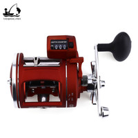 Wholesale Left Hand Casting Reels - YANJIANG FISH 12 Bearings Drum Wheel Left   Right hand Fishing Reel with Electric Depth Counter Multiplier Body Cast Drum Wheel