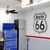Wholesale Garage Wall Vinyl - Rushed Diy Poster Vintage Signs Route 66 Number Stickers Living Room Wall Decals Window Home Decor Office Garage Vinyl Decal