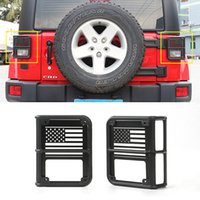 Wholesale Tail Guard - Tail Light Rear Light Guards Metal Black Auto Exterior Accessories High Quality Fit For Jeep Wrangler 2007-2016