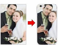 iphone 3d foto großhandel-DIY kundenspezifischer Kunst gedruckter Fall addieren Karikatur-Fälle des Logo-Foto-Bild-3D nach Maß TPU-Vollbereichs-Abdeckungs-Fall für iphone 7 6 6s plus 5s SE heiß
