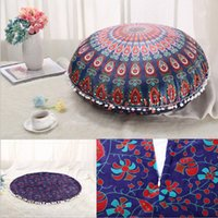 75 * 75cm Mandala Indiano Cuscino Ombre Cuscino Hippie Boho Throw Cuscino Cover Cover Cuscino Pavimento Bohemian Pillowcase Divano Vintage Decorazione auto