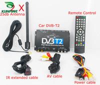 Discount dvb cars - HDTV Car DVB-T2 DVB-T MULTI PLP Digital TV Receiver automobile DTV box With Two Tuner Antenna KF-V8002