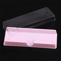 Wholesale Shipping Box Lid - Packing box for eyelash blank eyelashes plastic packaging transparent lid pink tray 204521 wholesales(500sets lot)Free Shipping
