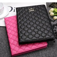 Para iPad Air 2 Crown Diamond capa de couro para iPad mini 4 iPad 2/3/4 tablet case Stand Soft Leather Smart Cases