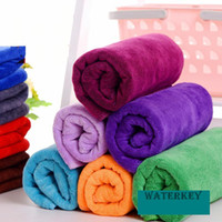 Wholesale Car Dry Cloth - 30cm*70cm-Soft-Microfibre-Cleaning cloths-Home Household Clean Towel-Auto Car Window wash Tool-Multi color-Easy to air dry