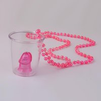 Wholesale Hens Night Games - Wholesale-1pcs Hen Night Shot Glass On Necklace Bachelorette Party Fun Drinking Game