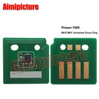 Wholesale Drum For Xerox - Compatible for XEROX Phaser 7800 106R01582 drum unit chip BK C M Y color drum reset chip 145k