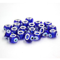 Wholesale Necklace Thread Beads - DIY Loosa Beads Free Shipping 20pcs Silver Threaded Screw DIY Lampwork Eyes Beads Fit European PDR Charms Bracelet Necklace