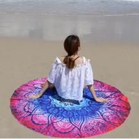 Wholesale Hair Blanket - Indian Round Mandala Tapestry Outdoor Picnic Blanket Beach Towel Throw Yo-ga Mat Pineapple series of Beach Towel