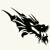 Wholesale White King Car - Wholesale 10pcs lot Dragon Totem Mysterious King of Beasts Car Sticker for Window Bumper Motorcycle Laptop Car Decor Reflective Vinyl Decal