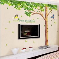 Wholesale living lines for sale - Group buy Wall Stickers Plant Tree Lined Decal Nursery Kid Room PVC Non Toxic Sticker Creative Removable Mural Art ks J R