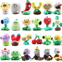 Wholesale Pink Zombie - Wholesale- Plants vs Zombies Plush Toys 12-22cm PVZ Soft Stuffed Plush Toys Doll Baby Toy for Kids Gifts Party Toys