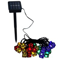 Barato Levaram Letras Claras De Fadas-Solar String Lights Flash LED Letters Fairy Lights para decoração de quarto Outdoor Indoor Holiday Patio Landscape Home
