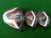 Clubes de golfe brandnew 3PCS X2 Madeira QUENTE Madeira ajustada Golf Driver das madeiras + Madeiras do fairway Manga do RegularStiff do eixo da grafita com tampa principal
