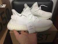 Wholesale Glowing Uv - CP9366 Triple White V2 Passed UV-Lights Text Glow in Dark New SPLY-350 BOOST 36-45 Kanye West Running Shoes with Box Receipt Socks Keychain