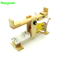 Wholesale diy assemble - Happyxuan Diy Electric Seesaw Technology Production Materials Package Science Experiment Wooden Assembled Model Education Toys